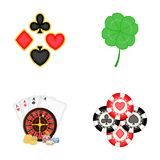 Excitement, casino, game and other web icon in cartoon style. Cheating, entertainment, recreation, icons in set Stock Photo