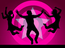 Excitement Disco Represents Nightclub Activity And Party Stock Photography