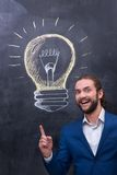 Excitement man with beard Stock Image