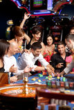Excitement over roulette playing Royalty Free Stock Image