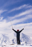 Excitement on the top of mountain Ejder. Royalty Free Stock Photos
