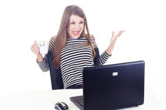 Excitement on work Royalty Free Stock Photos