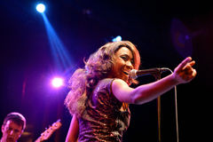 The Excitements (soul band) performs at Apolo venue Royalty Free Stock Photos