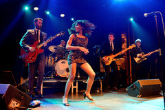 The Excitements (soul band) performs at Apolo venue Royalty Free Stock Image