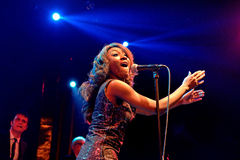 The Excitements (soul band) performs at Apolo venue Royalty Free Stock Photo