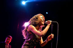 The Excitements (soul band) performs at Apolo venue Stock Photo