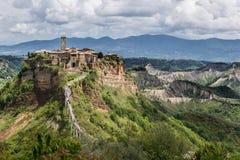 Exciting взгляд к Civita di Bagnoregio Стоковая Фотография RF