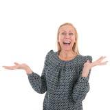 exciting женщина Стоковое Изображение