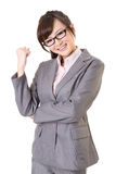 Exciting Asian business young woman Royalty Free Stock Photos
