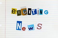 Free Exciting Breaking News Release Media Important Announcement Royalty Free Stock Photography - 162445977