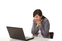 Exciting business woman Stock Image