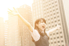 Exciting business woman Royalty Free Stock Photo