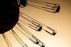 Carnival Ride. An exciting chair swing ride at a carnival stock photos