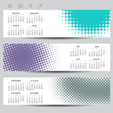 Exciting and colorful abstract dot calendar. For 2017 Stock Image