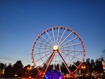 Exciting Farrish Wheel in park Royalty Free Stock Photography