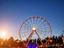 Exciting Farrish Wheel in park Stock Images
