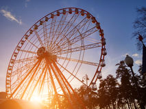 Exciting Farrish Wheel in park Stock Photography