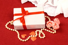 Exciting gifts for St. Valentine Day Royalty Free Stock Image