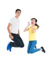 Exciting jump Royalty Free Stock Photography