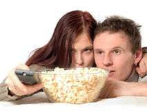 Exciting movie Stock Image