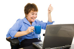 Exciting News Online royalty free stock image