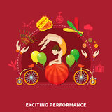 Exciting perfomance design vector illustration Royalty Free Stock Photography