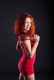 Exciting red-haired woman looking at camera Royalty Free Stock Image