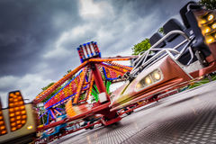 Exciting ride on a funfair Royalty Free Stock Photography