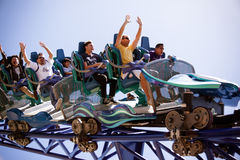 Exciting roller coaster Royalty Free Stock Photo