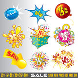 Exciting sales signs Royalty Free Stock Photos