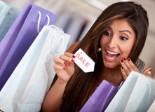 Exciting shopping sale Stock Image