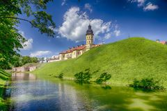 Exciting Tourist Destinations.Backside of  Renowned Nesvizh Castle. Exciting Tourist Destinations.Backe of  Renowned Nesvizh Castle as an Example of Medieval Royalty Free Stock Photo