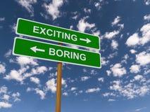 Exciting versus boring Stock Photo