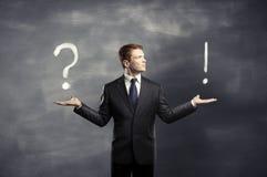 Exclamação e ponto de interrogação Imagem de Stock