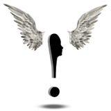 Exclamação Mark Wings Imagem de Stock