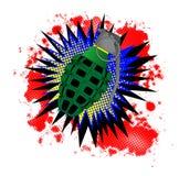 Exclamación cómica de la granada Imagenes de archivo