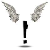 Exclamación Mark Wings Imagen de archivo libre de regalías