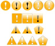 Exclamation. Set of exclamation icons, created with inkscape royalty free illustration