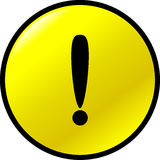 Exclamation attention vector button Stock Photography
