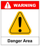 Exclamation danger area sign vector Stock Photos