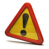 Exclamation danger sign Stock Image