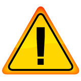 Exclamation danger sign. This is file of EPS10 format Stock Photography