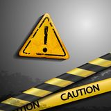 Exclamation danger sign Stock Images