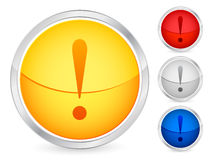Exclamation mark button vector illustration
