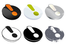 Exclamation mark buttons Stock Photo