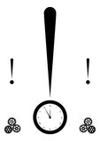 Exclamation mark and clock Stock Photo