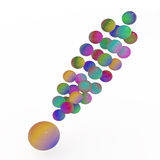 Exclamation mark, 3D Stock Image