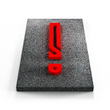 Red exclamation mark Royalty Free Stock Photography