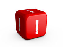 Exclamation Mark Dice Stock Photography