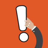Exclamation Mark In Hand. Royalty Free Stock Photography